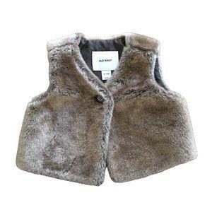 3/$25 Faux Fur Vest Toddler Girls Size 18-24 M